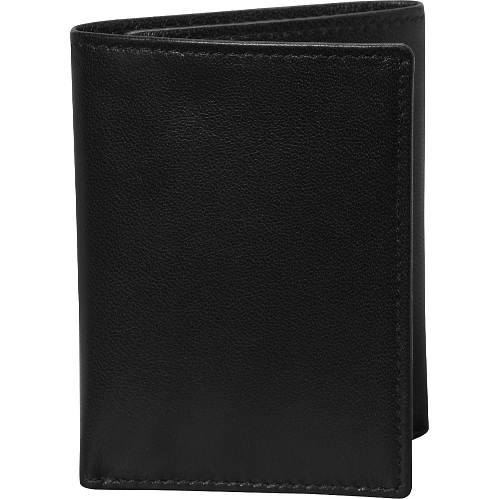 Budd Leather Nappa Soft Leather Trifold Wallet Black Budd Leather Men s Wallets