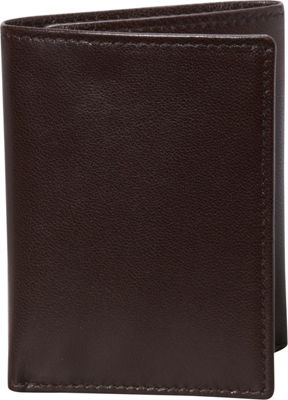 Budd Leather Nappa Soft Leather Trifold Wallet Brown - Budd Leather Men's Wallets