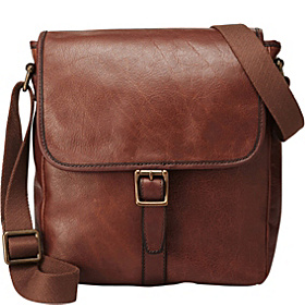 Estate N/S Leather City Bag Cognac