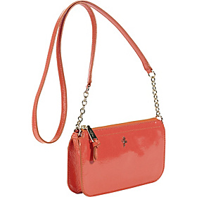 Jitney Zip Top Crossbody Orange Pop