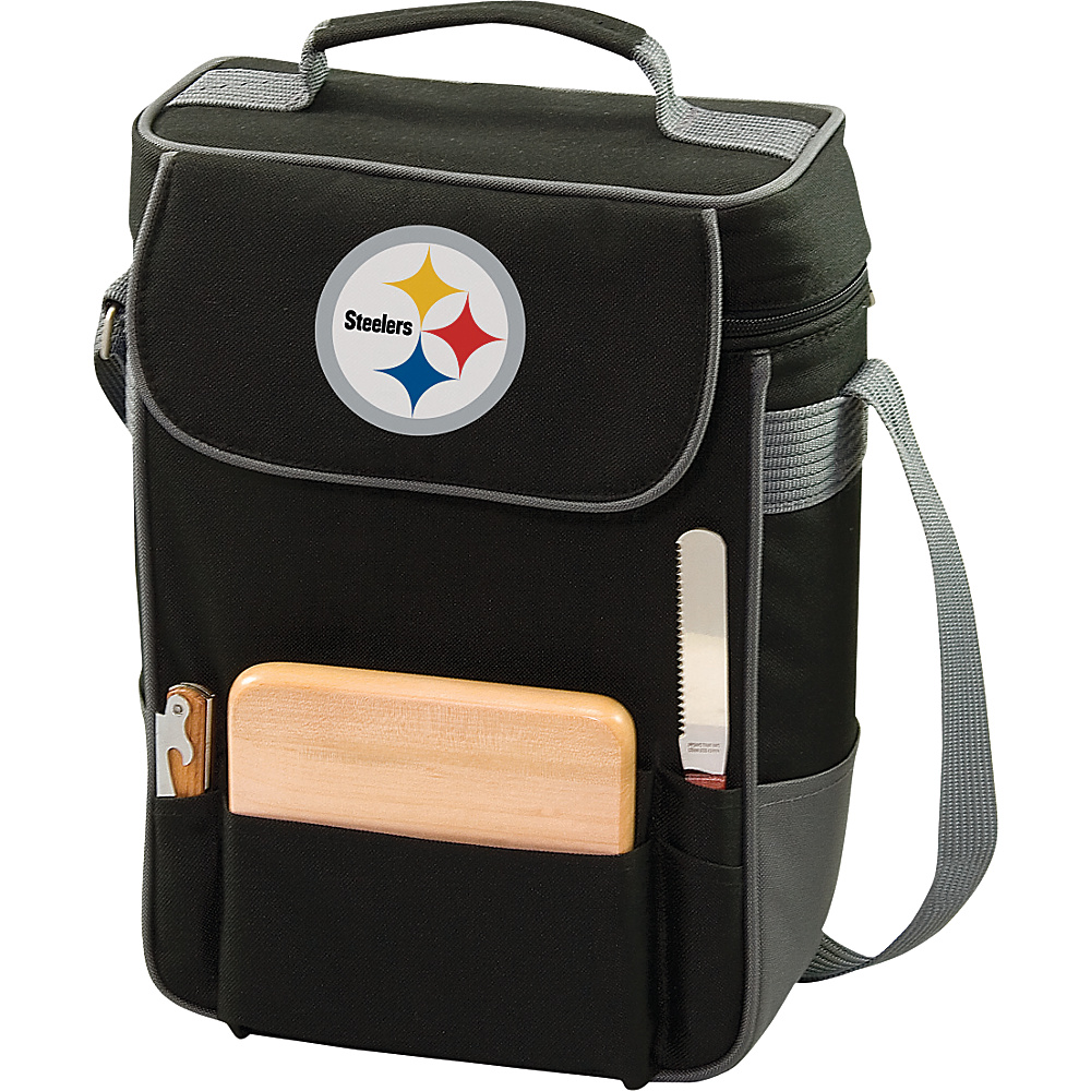Picnic Time Pittsburgh Steelers Duet Wine & Cheese Tote Pittsburgh Steelers - Picnic Time Outdoor Coolers - Outdoor, Outdoor Coolers