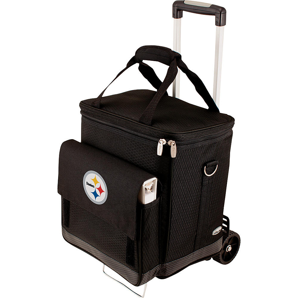 Picnic Time Pittsburgh Steelers Cellar w/Trolley Pittsburgh Steelers - Picnic Time Outdoor Coolers - Outdoor, Outdoor Coolers