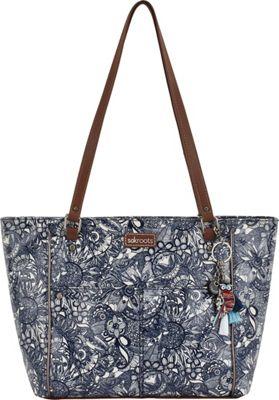 Sakroots Artist Circle Medium Satchel Navy Spirit Desert - Sakroots Fabric Handbags