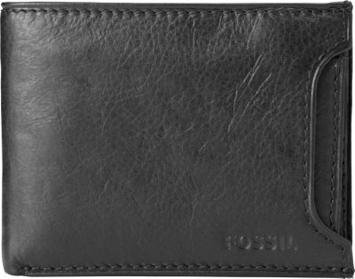Fossil Ingram Sliding 2-in-1 Wallet Black - Fossil Men's Wallets