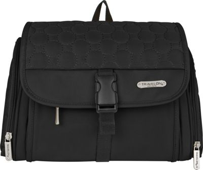 Travelon Hanging Toiletry Kit - Quilted Black Quilted - Travelon Toiletry Kits