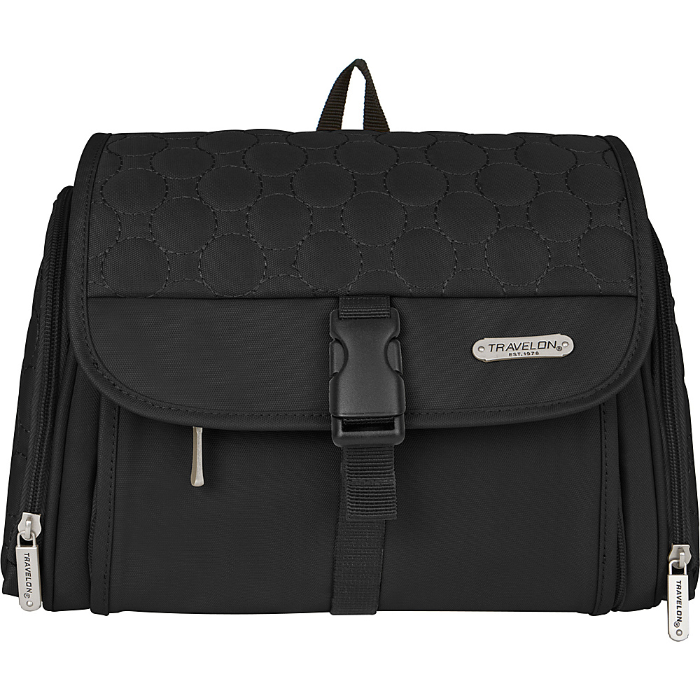 Travelon Hanging Toiletry Kit - Quilted Black Quilted - Travelon Toiletry Kits - Travel Accessories, Toiletry Kits