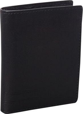 Mancini Leather Goods RFID Secure Collection: Men's RFID Hipster Billfold Wallet Black - Mancini Leather Goods Men's Wallets
