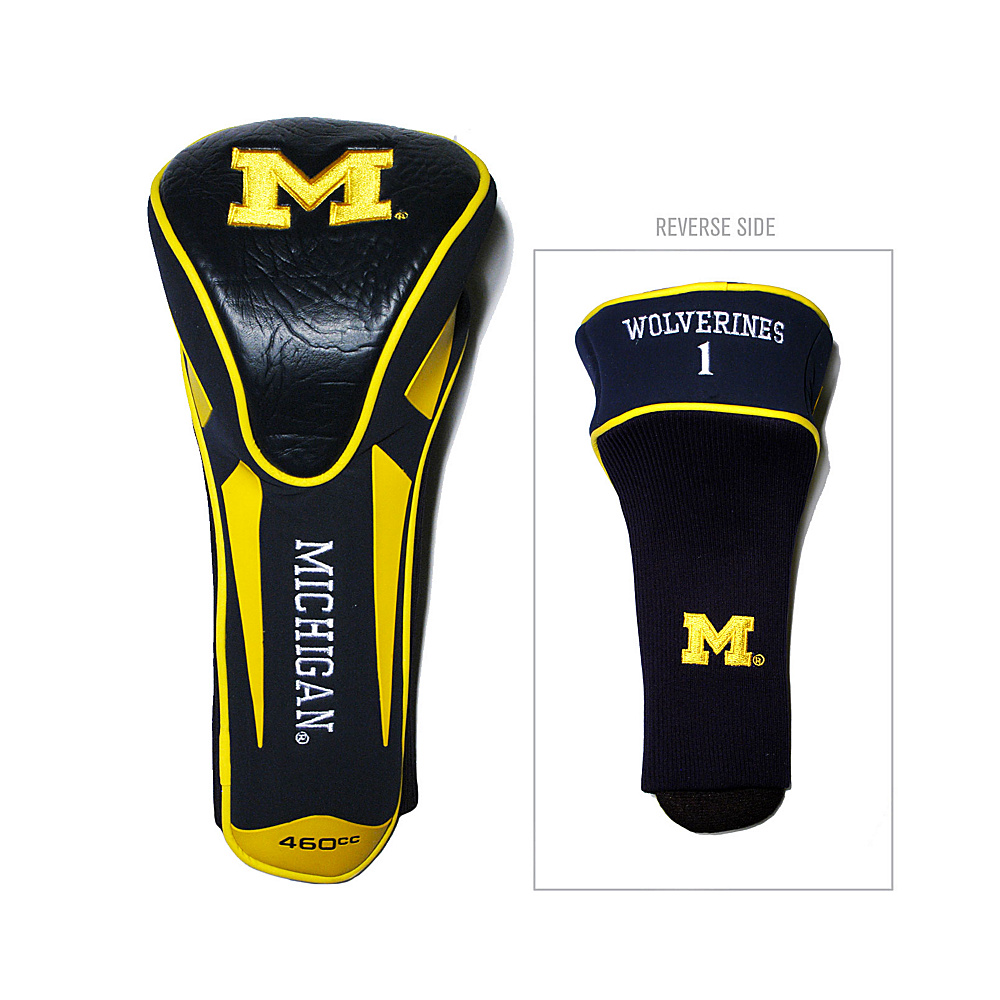 Team Golf USA University of Michigan Wolverines Single Apex Headcover Team Color - Team Golf USA Golf Bags