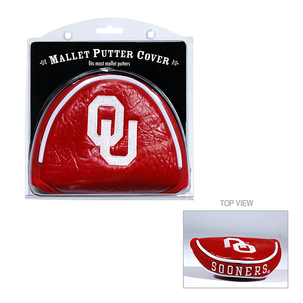 Team Golf USA University of Oklahoma Sooners Mallet Putter Cover Team Color - Team Golf USA Golf Bags