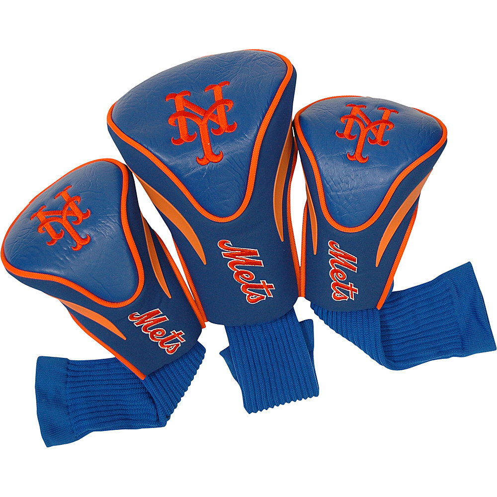 Team Golf USA New York Mets 3 Pk Contour Head Cover Team Color - Team Golf USA Golf Bags