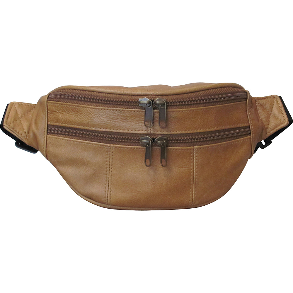 AmeriLeather Leather Fanny Pack Caramel(4) - AmeriLeather Waist Packs - Backpacks, Waist Packs