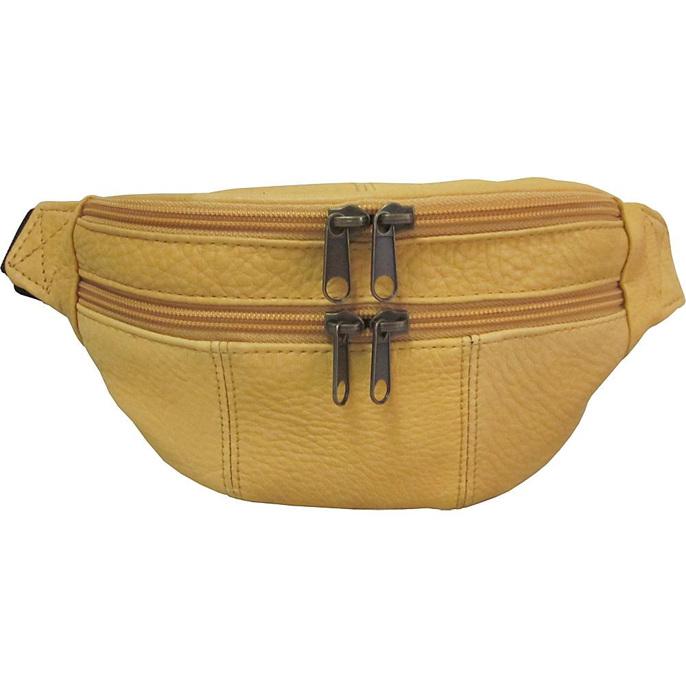 AmeriLeather Leather Fanny Pack Apple Juice - AmeriLeather Waist Packs - Backpacks, Waist Packs
