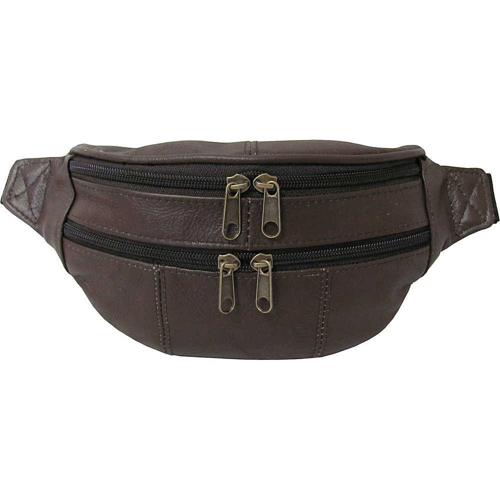 AmeriLeather Leather Fanny Pack Espresso - AmeriLeather Waist Packs - Backpacks, Waist Packs