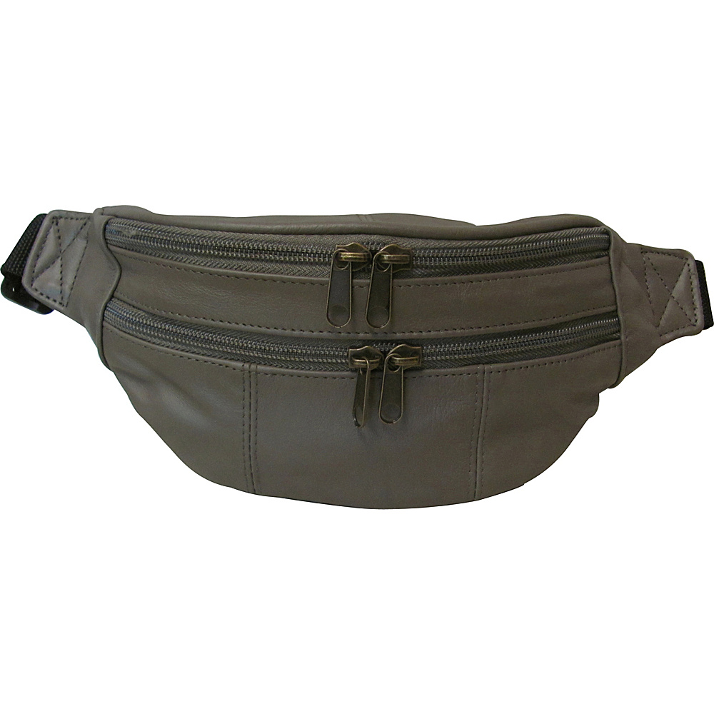 AmeriLeather Leather Fanny Pack Cromwell Grey(9) - AmeriLeather Waist Packs - Backpacks, Waist Packs