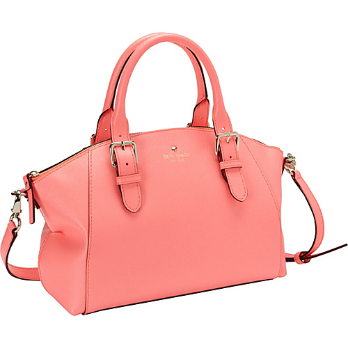 kate spade new york Charlott Street Small Sloan Satchel Flo Coral - kate spade new york Designer Fabric