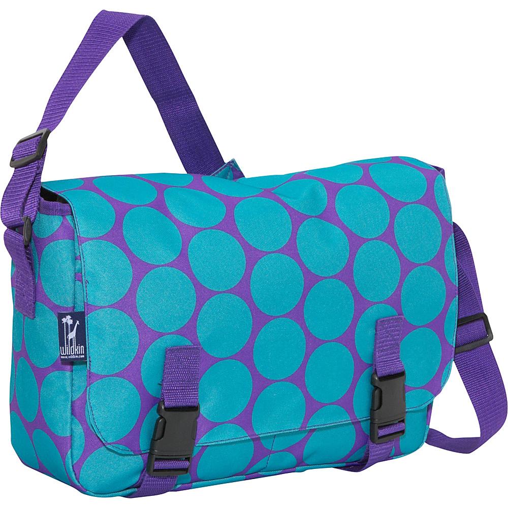 Wildkin Jumpstart Messenger Big Dots Aqua - Wildkin Messenger Bags - Work Bags & Briefcases, Messenger Bags