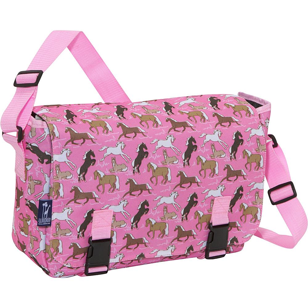 Wildkin Horses in Pink Jumpstart Messenger Bag - Horses - Work Bags & Briefcases, Messenger Bags