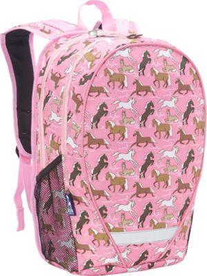 Wildkin Horses in Pink 18 Inch Backpack Horses in Pink - Wildkin Everyday Backpacks