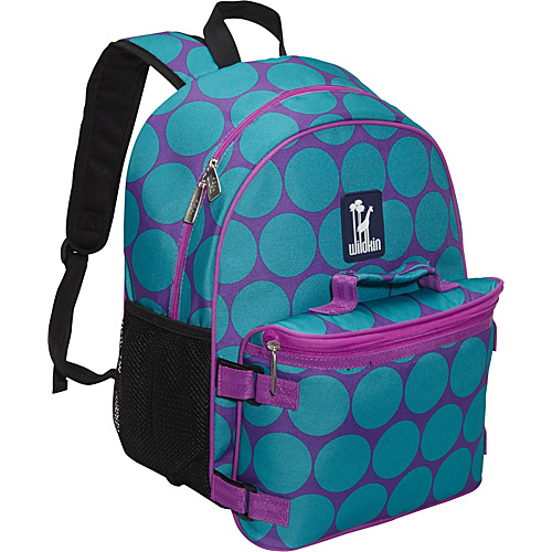Wildkin Big Dot Aqua Bogo Backpack w/ Lunch Bag Big Dots Aqua - Wildkin School & Day Hiking Backpacks