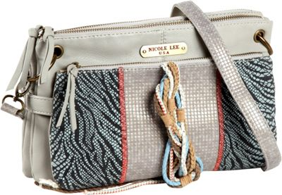 Nicole Lee Naomi Neutral Works Shoulder Bag Grey - Nicole Lee Manmade Handbags