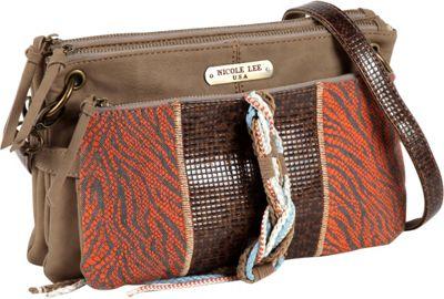 Nicole Lee Naomi Neutral Works Shoulder Bag ORANGE - Nicole Lee Manmade Handbags