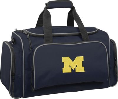 Wally Bags University of Michigan Wolverines 21 inch Collegiate Duffel Navy - Wally Bags Rolling Duffels