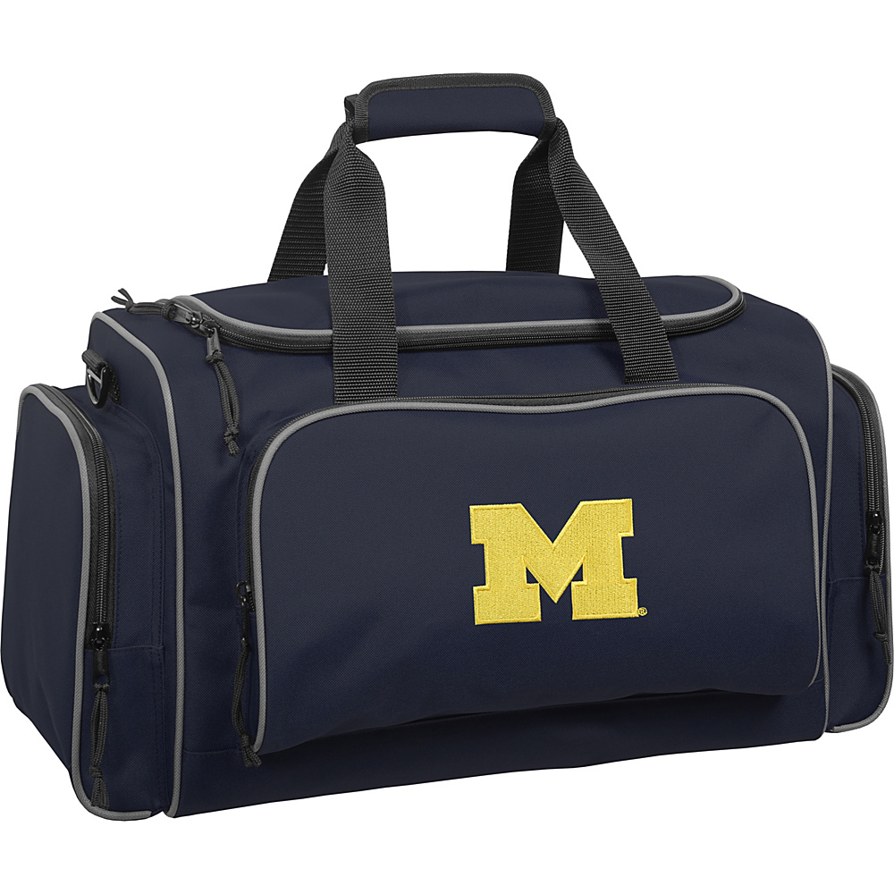 Wally Bags University of Michigan Wolverines 21 Collegiate Duffel Navy Wally Bags Rolling Duffels