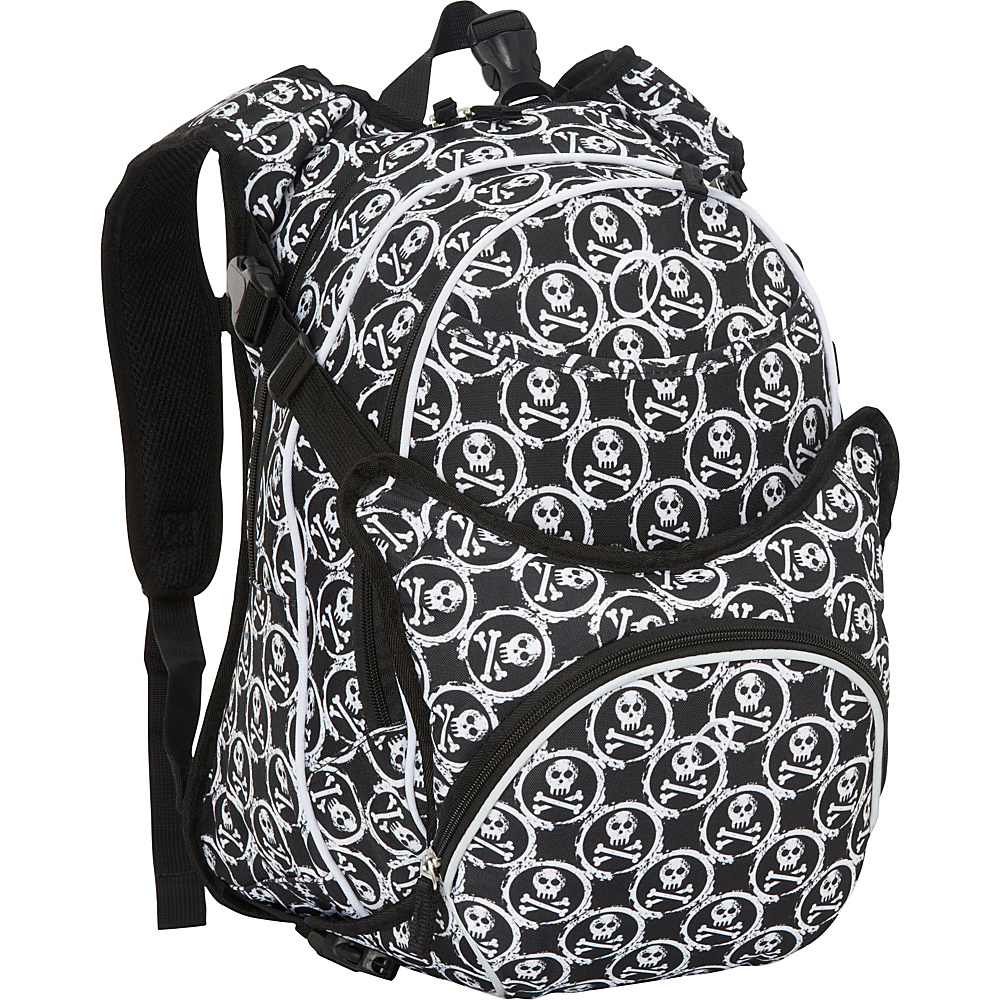 Obersee Innsbruck Diaper Bag Backpack With Detachable Cooler Skulls - Obersee Diaper Bags & Accessories