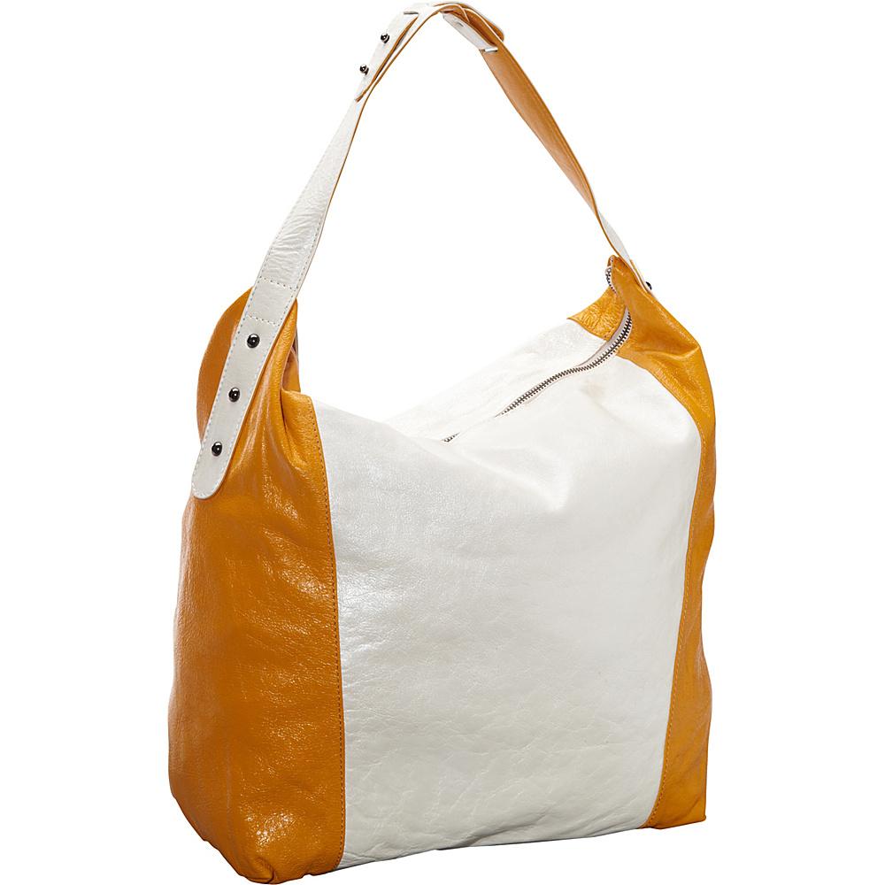 Latico Leathers Samantha Hobo Metallic White/Gold - Latico Leathers Leather Handbags - Handbags, Leather Handbags