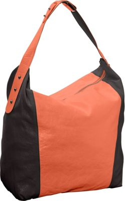 Latico Leathers Samantha Hobo Salmon/Espresso - Latico Leathers Leather Handbags