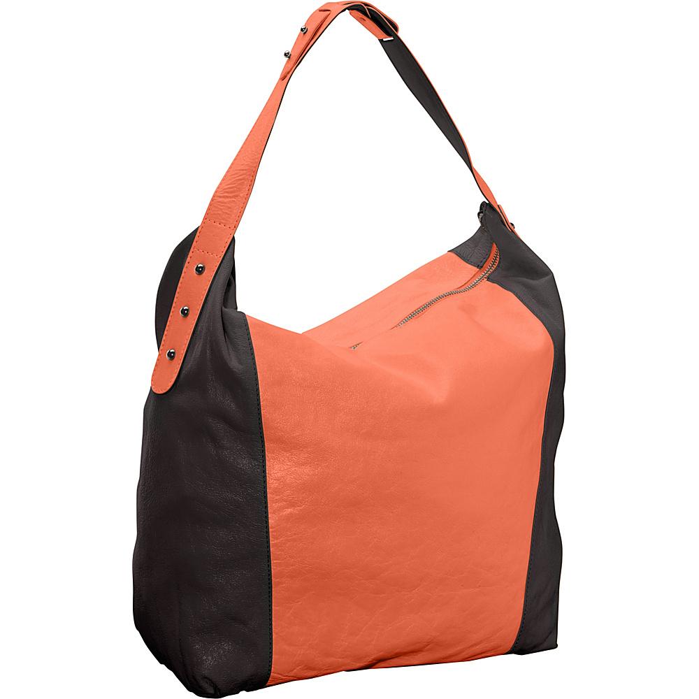 Latico Leathers Samantha Hobo Salmon/Espresso - Latico Leathers Leather Handbags - Handbags, Leather Handbags
