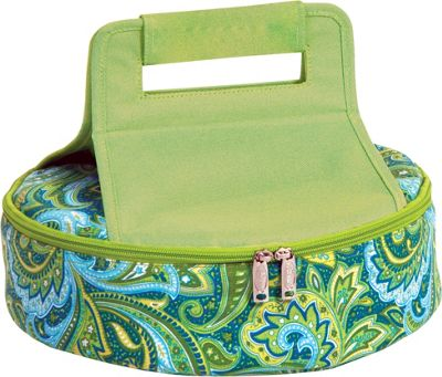Picnic Plus Cake 'n Carry Green Paisley - Picnic Plus Outdoor Coolers