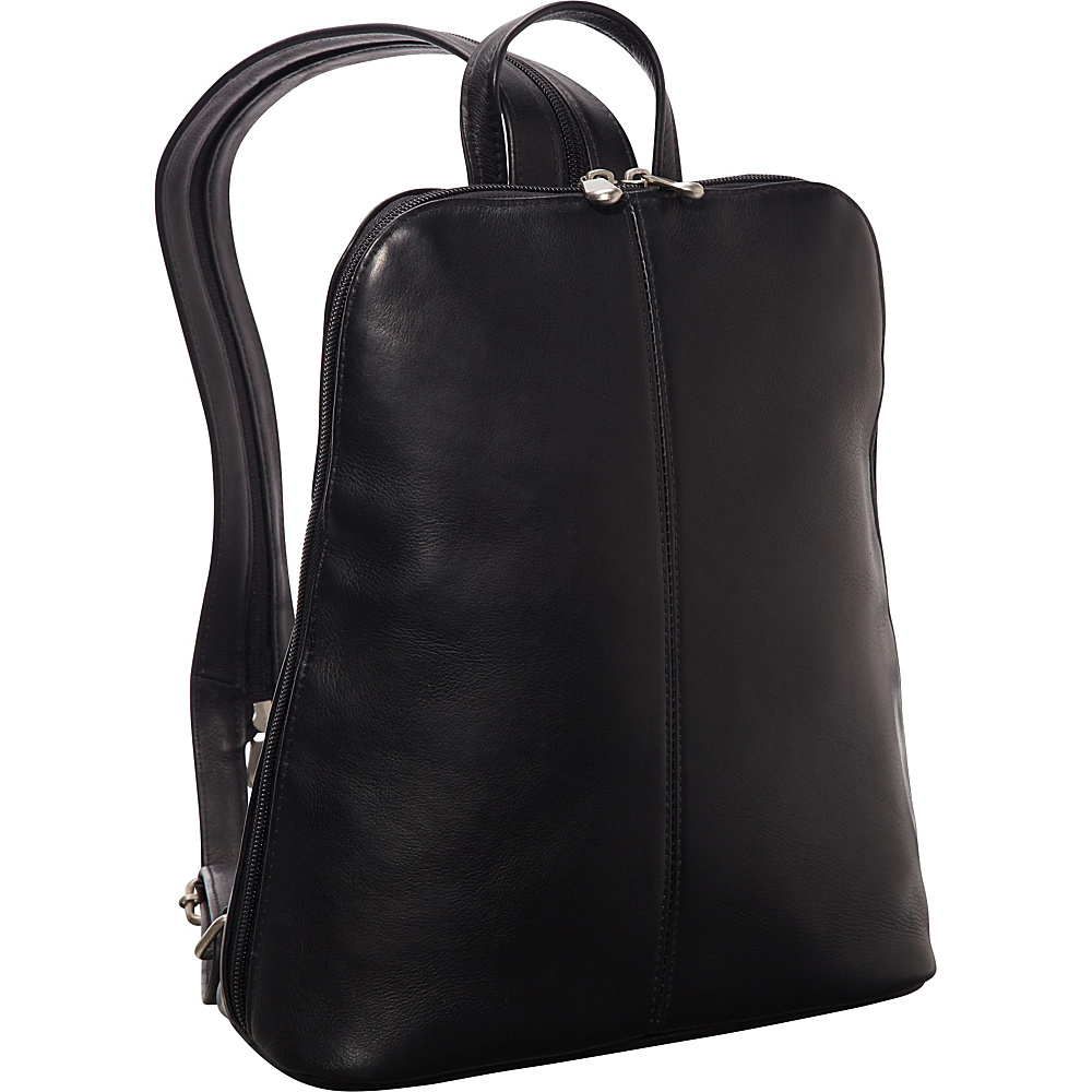 Le Donne Leather Womens iPad/eReader Backpack Sling Black - Le Donne Leather Leather Handbags