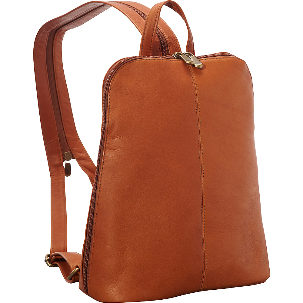 Le Donne Leather Womens iPad/eReader Backpack Sling Tan - Le Donne Leather Leather Handbags - Handbags, Leather Handbags