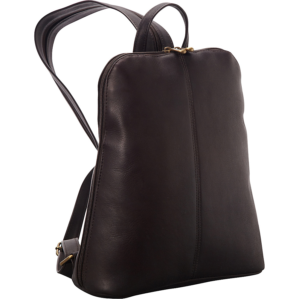Le Donne Leather Womens iPad/eReader Backpack Sling Cafe - Le Donne Leather Leather Handbags - Handbags, Leather Handbags