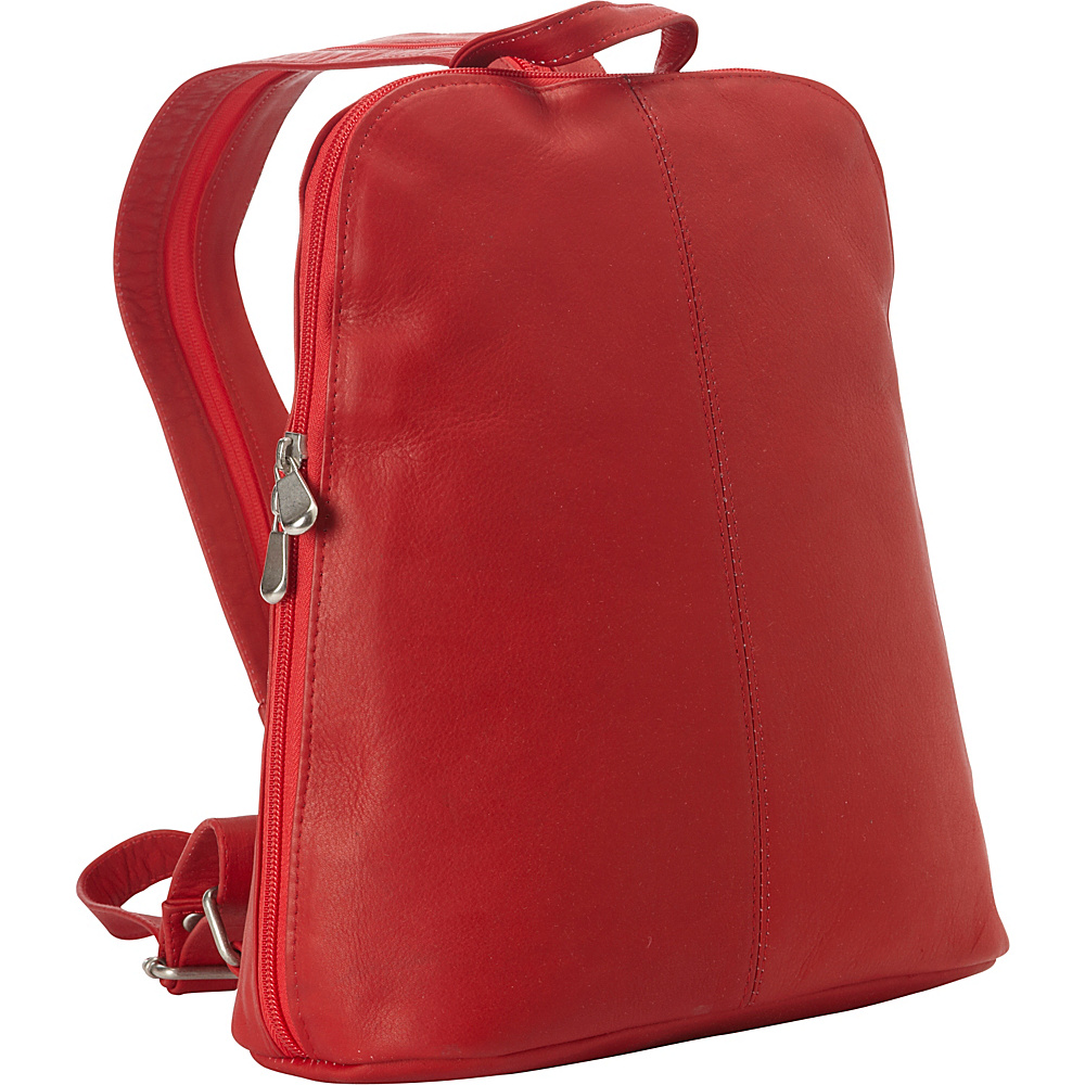 Le Donne Leather Womens iPad/eReader Backpack Sling Red - Le Donne Leather Leather Handbags - Handbags, Leather Handbags