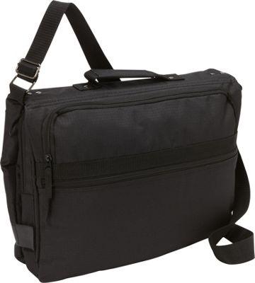 Bellino Reversible Checkpoint Friendly Laptop Messenger Black - Bellino Messenger Bags