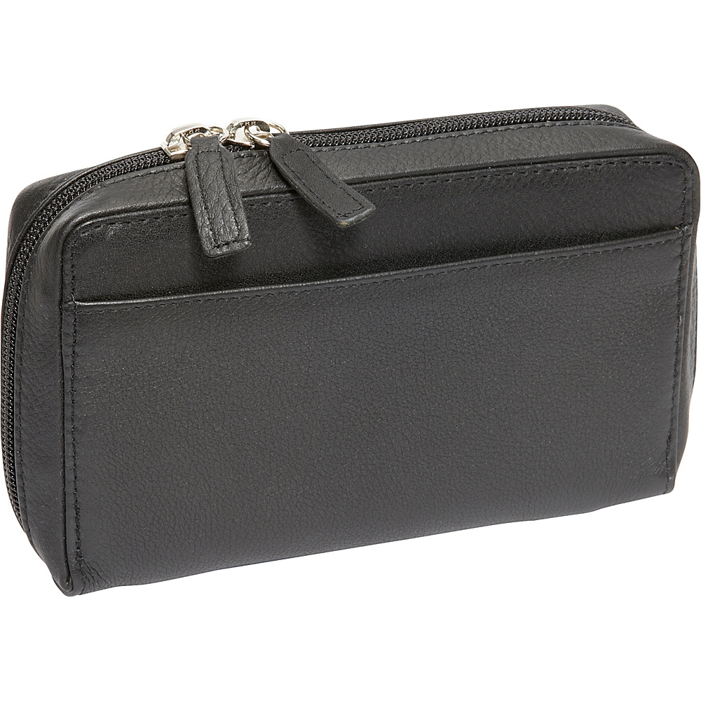 Derek Alexander Medium Organizer Clutch Wallet Black - Derek Alexander Womens Wallets - Women's SLG, Women's Wallets