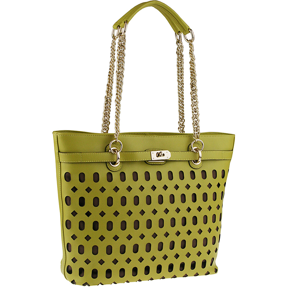 Buxton Gabriella Tote Green (GR) - Buxton Leather Handbags - Handbags, Leather Handbags