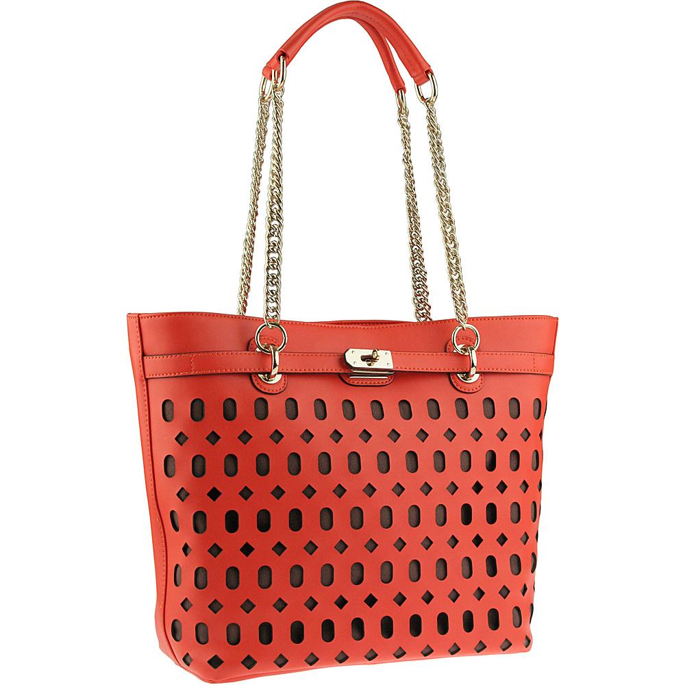 Buxton Gabriella Tote Orange (OR) - Buxton Leather Handbags - Handbags, Leather Handbags