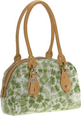 Buxton Luisa Satchel Green (GR) - Buxton Leather Handbags