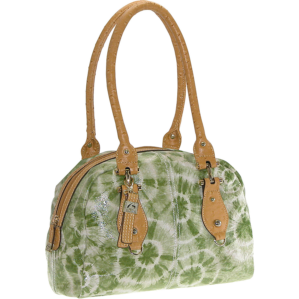 Buxton Luisa Satchel Green (GR) - Buxton Leather Handbags