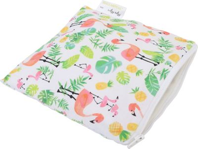 Itzy Ritzy Snack Happens Reusable Snack and Everything Bag Flamingo Flock - Itzy Ritzy Diaper Bags & Accessories
