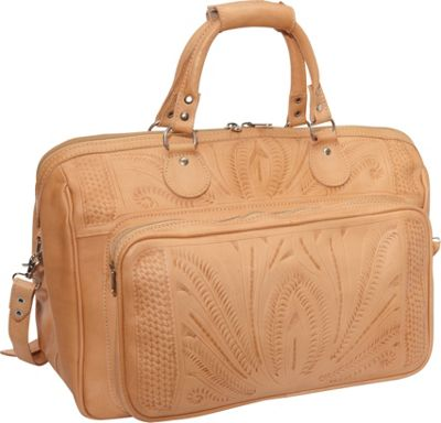 "Ropin West 18"" Leather Weekender Natural - Ropin West Luggage Totes and Satchels"