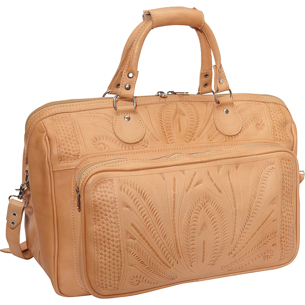 Ropin West 18 Leather Weekender Natural Ropin West Luggage Totes and Satchels