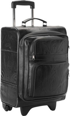 Ropin West 17 inch Upright Roller Bag Black - Ropin West Softside Carry-On