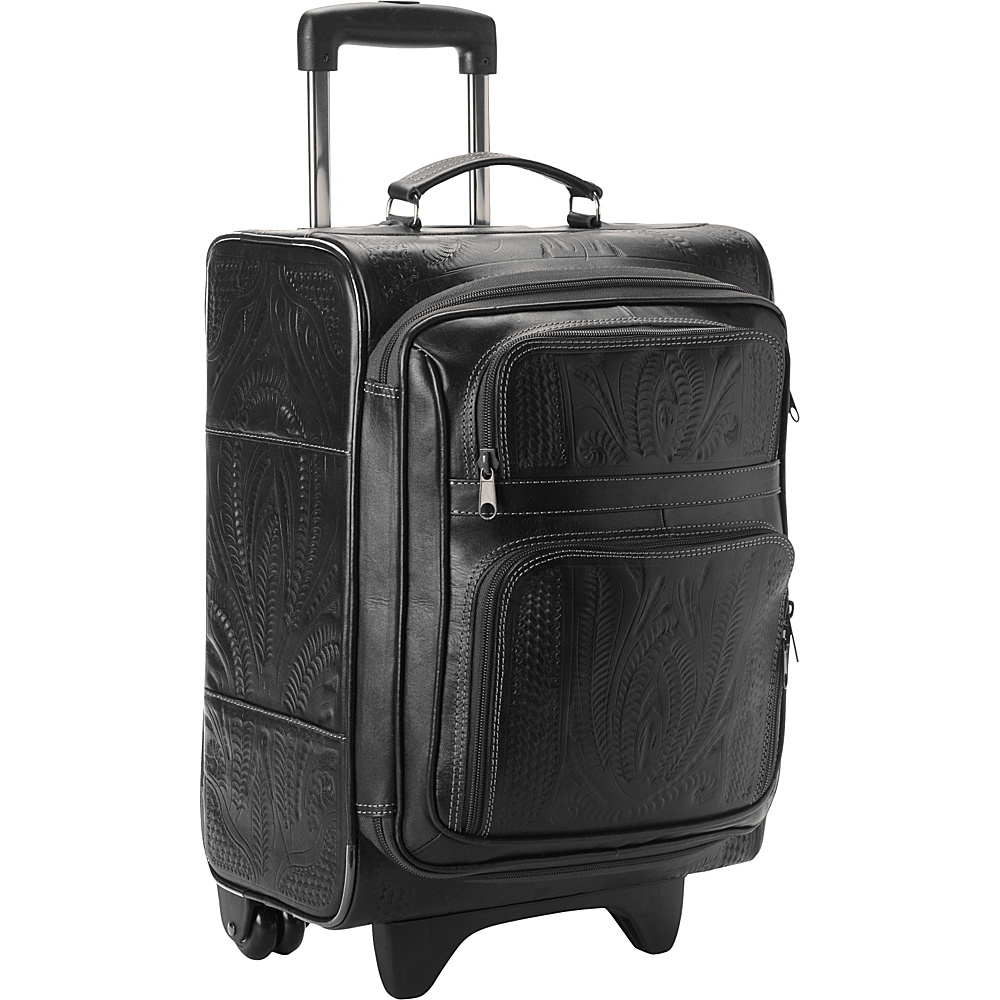Ropin West 17 Upright Roller Bag Black Ropin West Softside Carry On