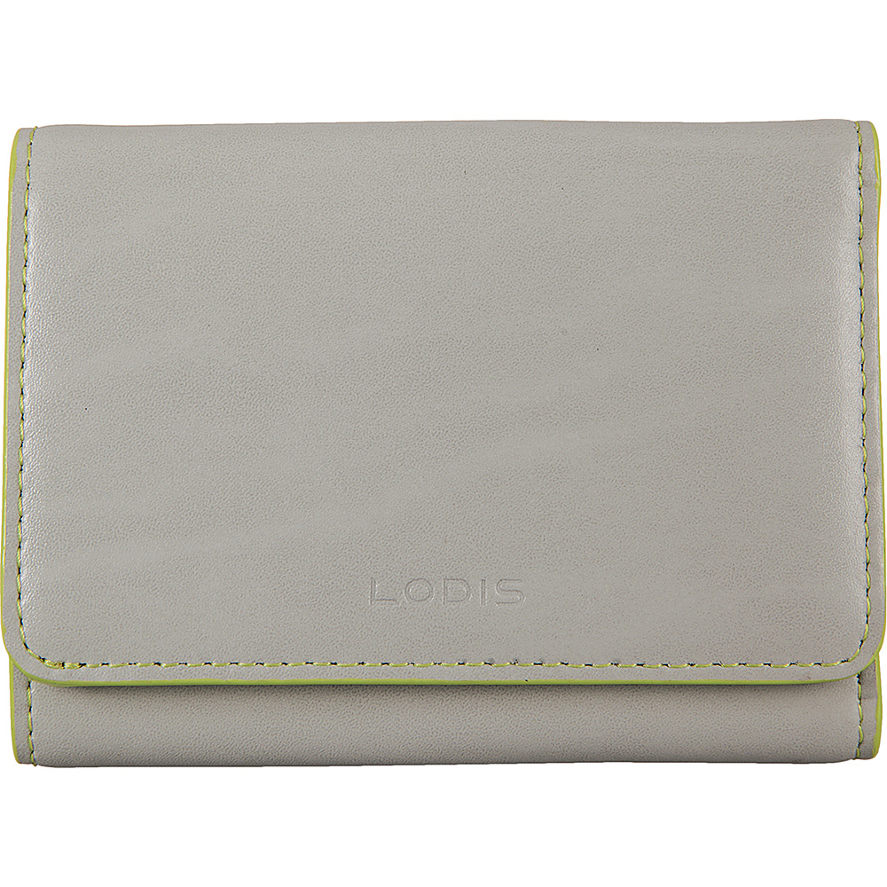 Lodis Audrey Mallory French Wallet Dove/Lime - Lodis Womens Wallets - Women's SLG, Women's Wallets