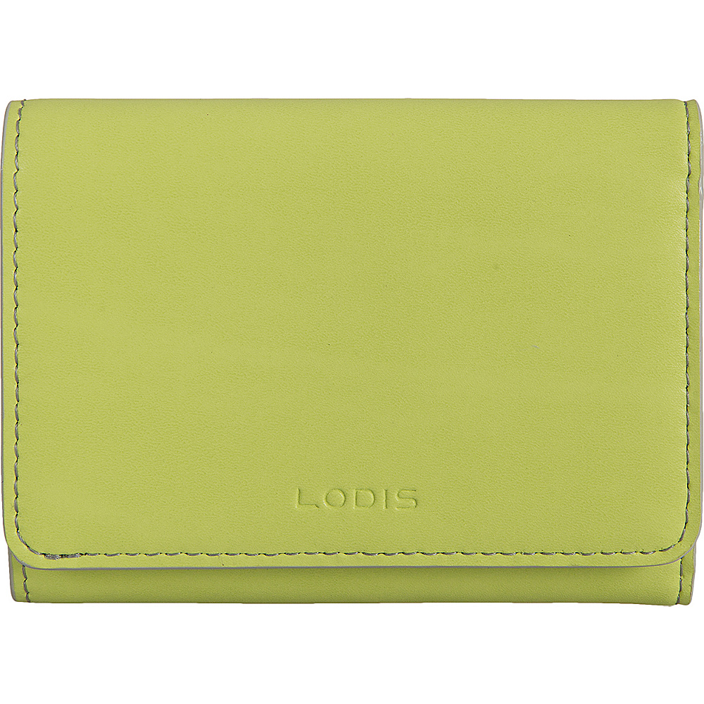 Lodis Audrey Mallory French Wallet Lime/Dove - Lodis Womens Wallets - Women's SLG, Women's Wallets