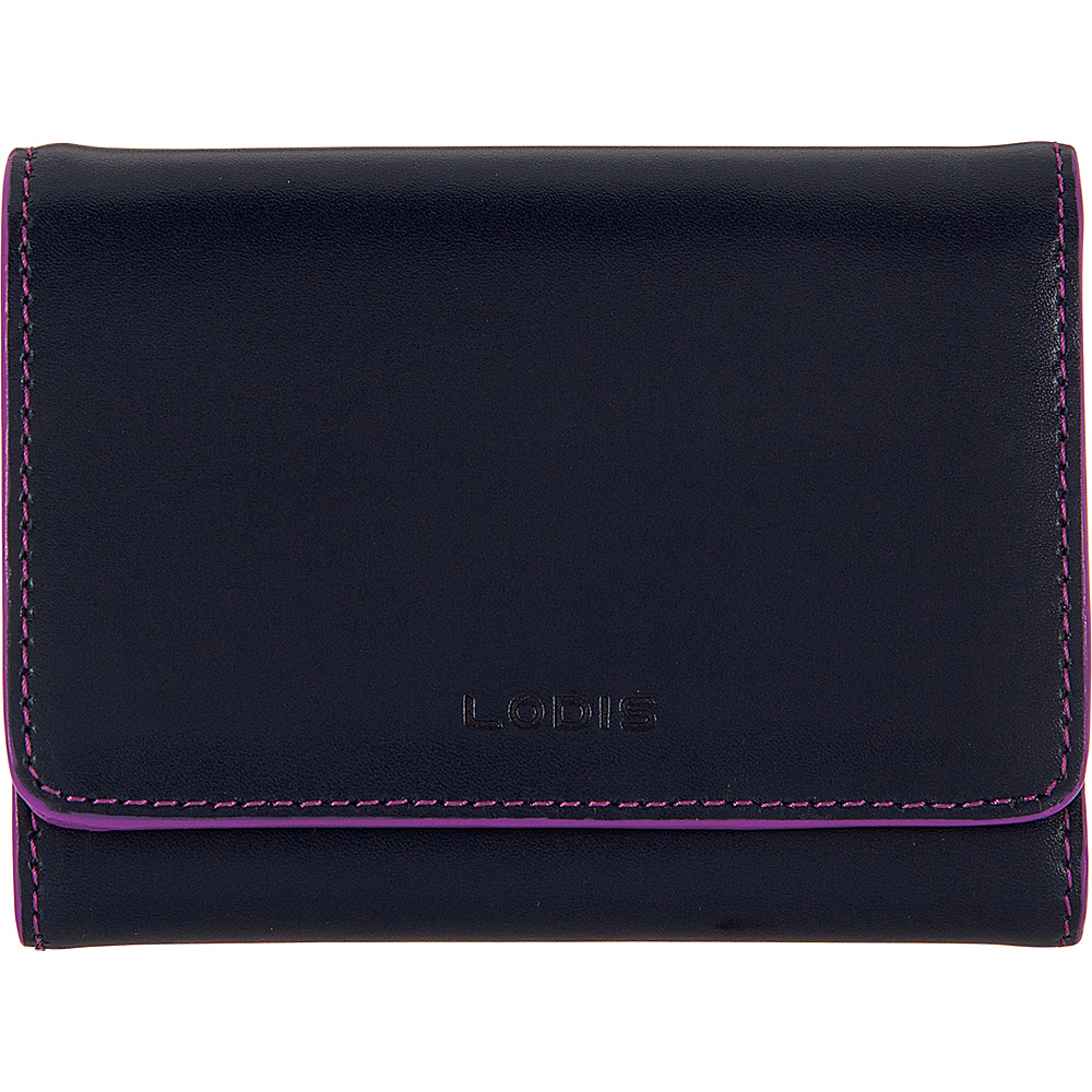 Lodis Audrey Mallory RFID French Wallet Navy/Orchid - Lodis Womens Wallets - Women's SLG, Women's Wallets